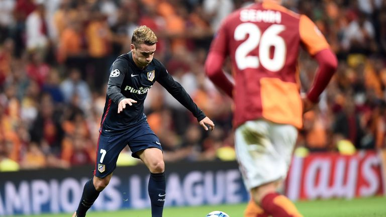 Atletico Madrid's Antoine Griezmann scored twice against Galatasaray
