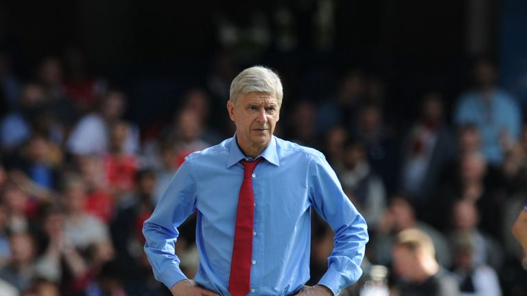 Arsenal manager Arsene Wenger during the Barclays Premier League match between Chelsea and Arsenal on September 19, 2015 in London
