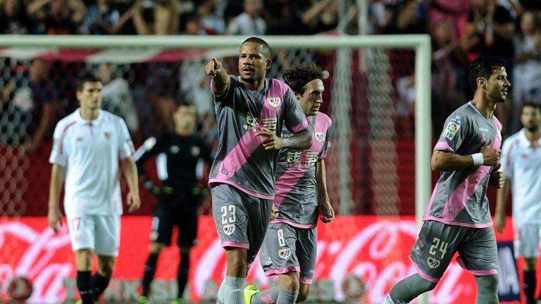 Former Man Utd midfielder Bebe's wonder goal for Rayo Vallecano