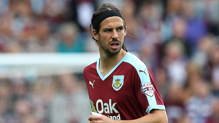 George Boyd of Burnley  scored his first goal of the season.