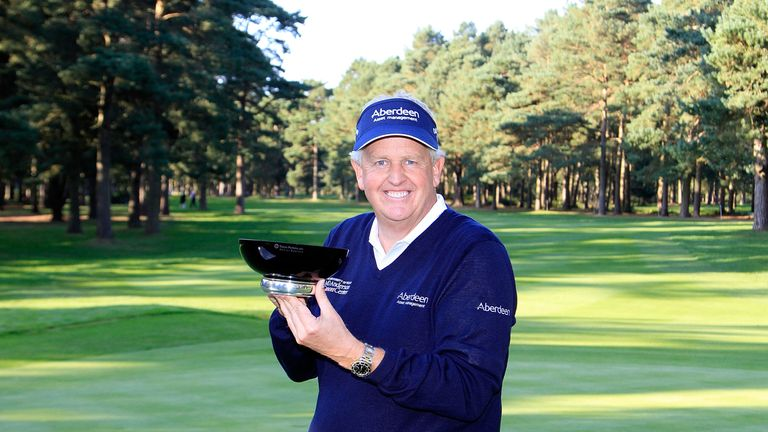 Colin Montgomerie now gets to keep the Travis Perkins Masters trophy
