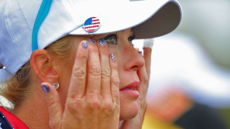 Paula Creamer of the United States Team with tears after secoring the match winning point
