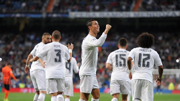 Cristiano Ronaldo scored a hat-trick as Real Madrid beat Shakhtar Donetsk 4-0.