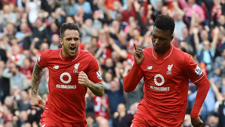 Danny Ings and Daniel Sturridge, Liverpool v Aston Villa, Premier League (Photo by John Powell/Liverpool FC via Getty Images)