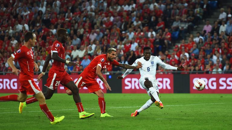 Danny Welbeck was the hero in the reverse fixture as England began Euro 2016 qualification with 2-0 win in Basel