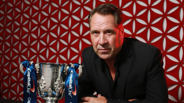 David Seaman with The Capital One Cup