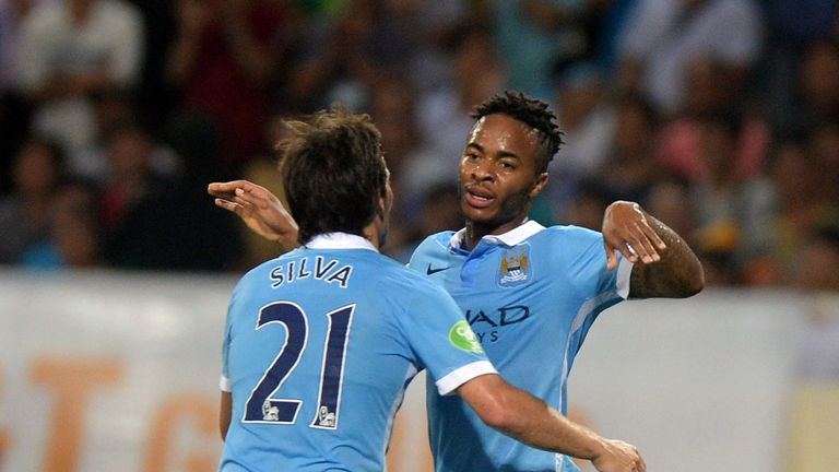 Raheem Sterling (right) has played as a central striker in the past for Liverpool