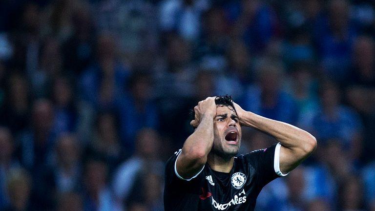 Diego Costa struck the crossbar with a second-half effort
