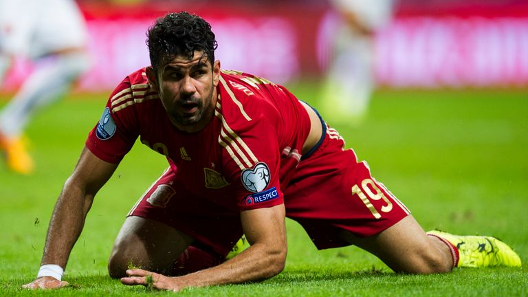 Diego Costa has scored just one goal in eight appearances for Spain.