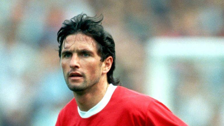 Germany international Bruno Labbadia in action for Kaiserslautern in 1991