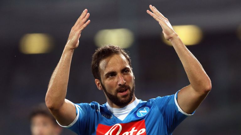 Gonzalo Higuain was among the goals again for Napoli