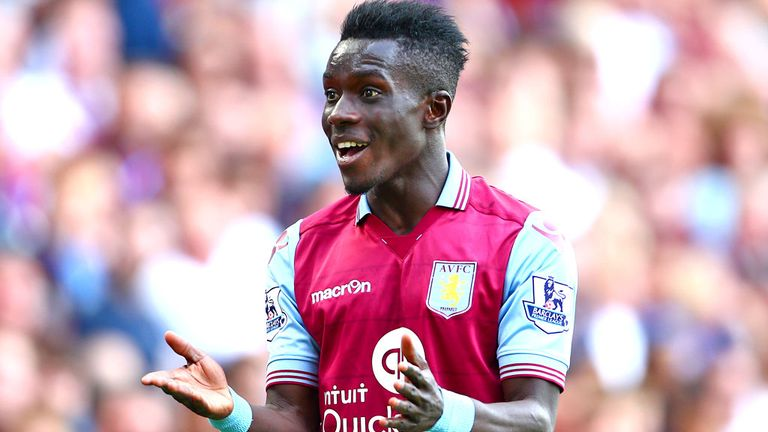 Idrissa Gueye in action for Aston Villa