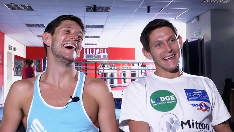 Gavin McDonnell (r) and twin brother Jamie McDonnell (l)