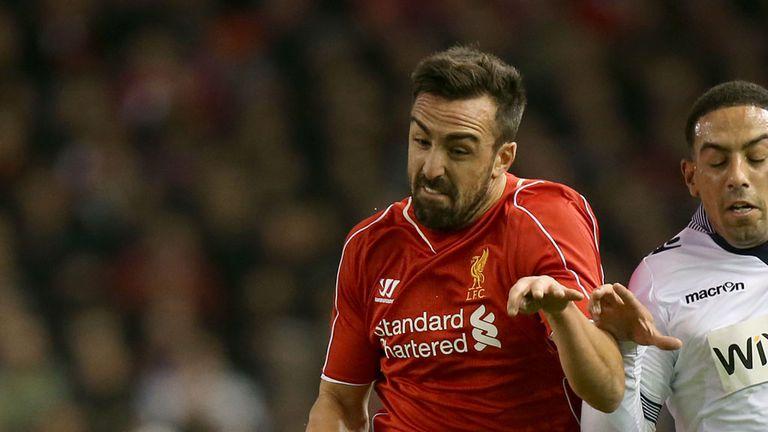 Jose Enrique has fallen down the pecking order at Liverpool
