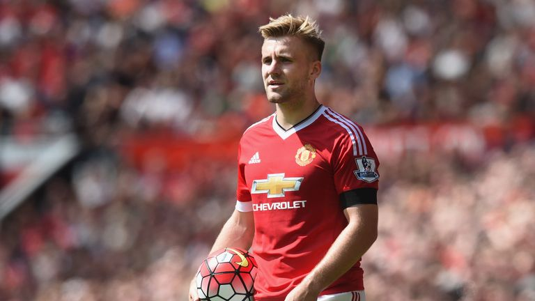 Luke Shaw has been much improved in his second season with Manchester United.