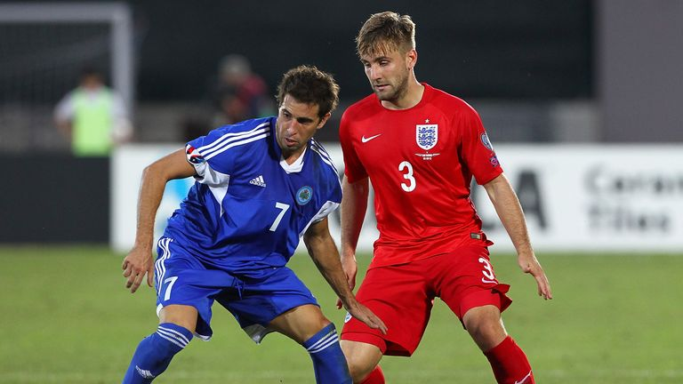 Shaw also played in the 6-0 victory over San Marino