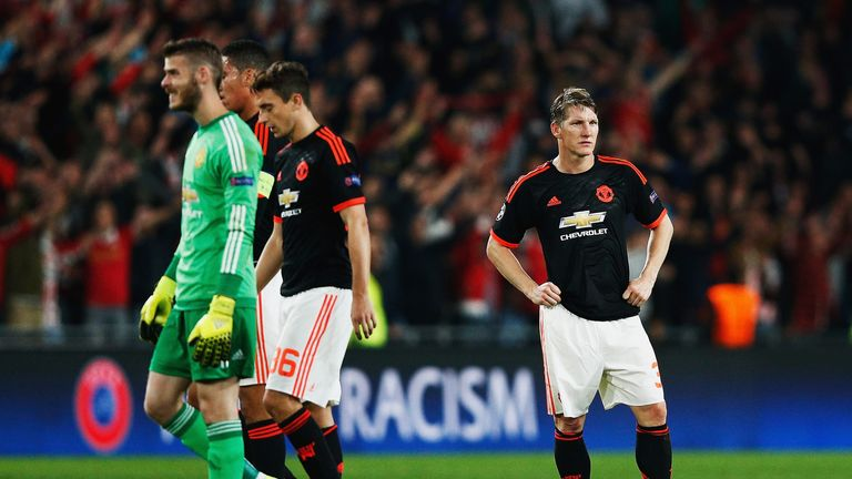 Manchester United were beaten 2-1 by PSV Eindhoven at the Philips Stadion