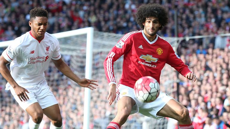 Fellaini got the nod up front with Rooney injured