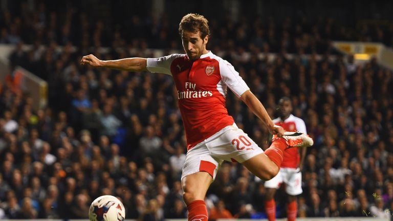Flamini turns home from close range in the 26th minute