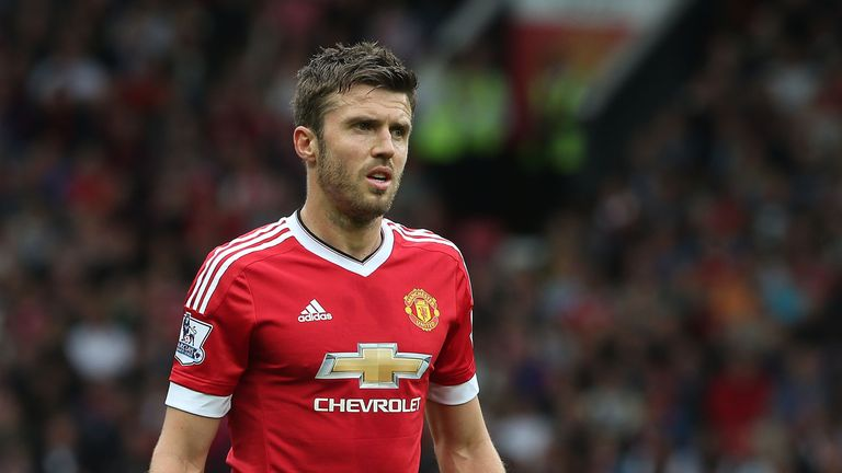 Michael Carrick of Manchester United in action during the Premier League match against Sunderland