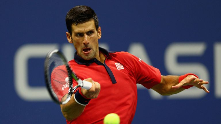 The Serb is trying to collect his third Grand Slam title of the year