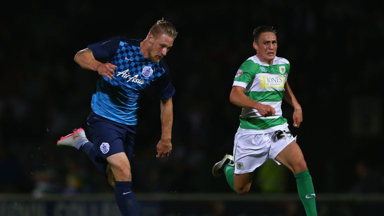 Connor Roberts of Yeovil (right)