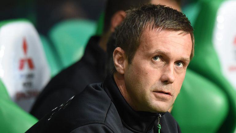 Celtic manager Ronny Deila watches his side face Raith
