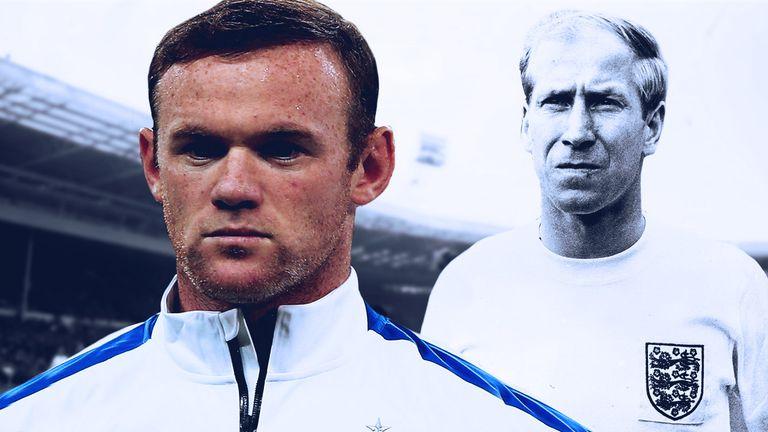 Wayne Rooney has broken Sir Bobby Charlton's England goalscoring record