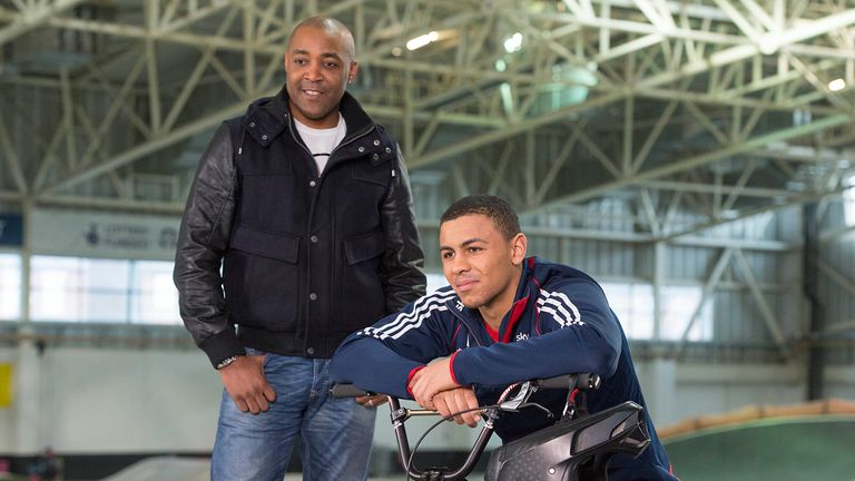 Sky Academy Scholar and BMX star Quillan Isidore has been getting advice from mentor Darren Campbell