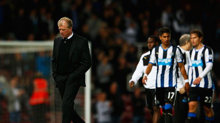 Steve McClaren, manager of Newcastle United walks