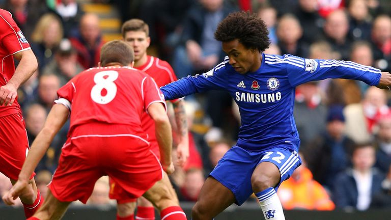 Steven Gerrard tried to persuade Willian to join Liverpool rather than Chelsea