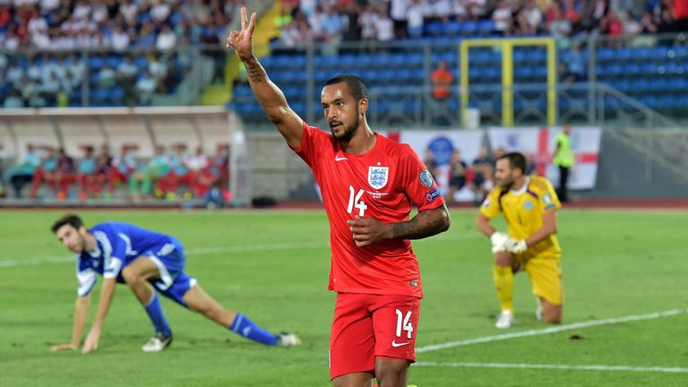 Walcott has scored eight goals in 43 appearances for England