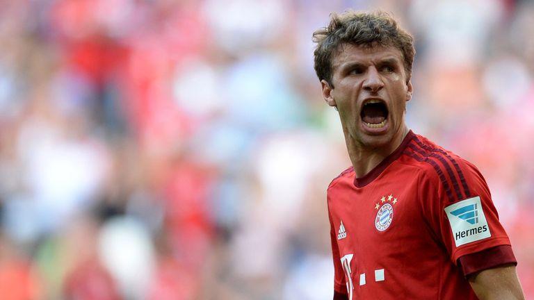 Bayern Munich's Thomas Muller has scored eight in eight games this season