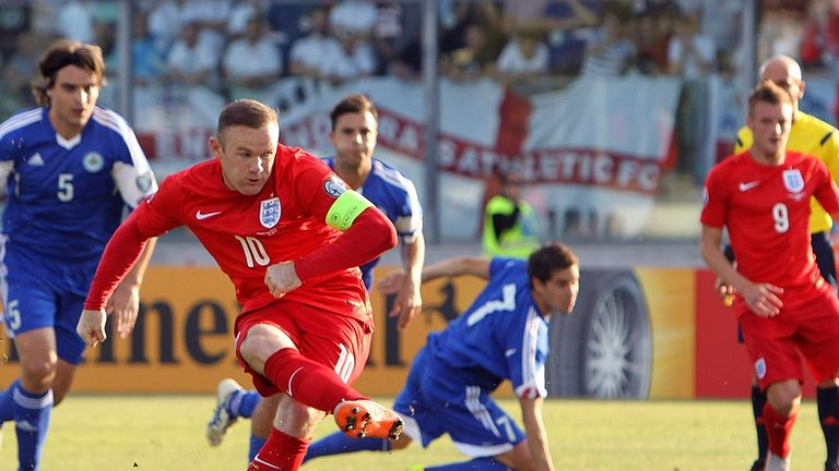 Rooney dispatches his penalty against San Marino