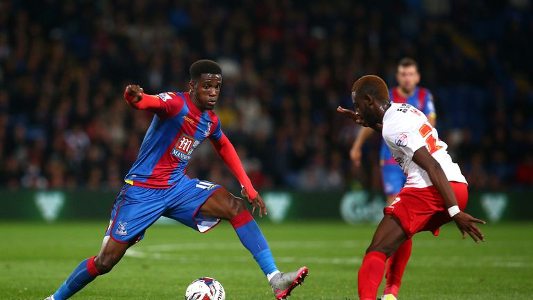 Wilfried Zaha is back at Crystal Palace after a spell with Manchester United