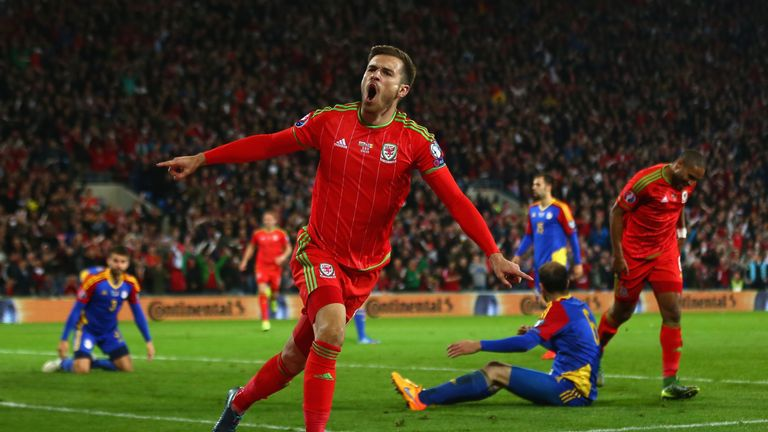 Wales' Aaron Ramsey is aiming to make an impression in France