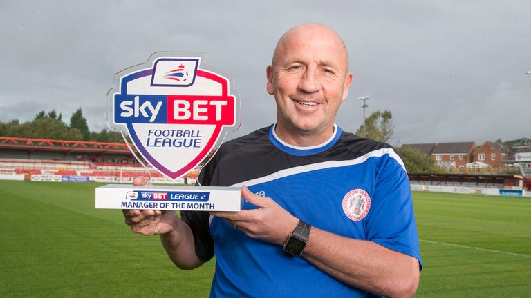 Accrington Stanley manager John Coleman is the Manager of the Month in Sky Bet League 2