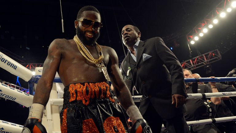 Broner leaves the ring after beating Khabib Allakhverdiev