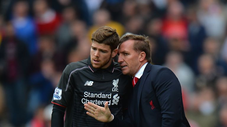 Alberto Moreno says he was left in a rage under Brendan Rodgers (right)