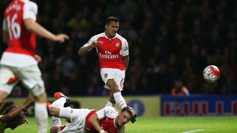 Alexis Sanchez opens the scoring against Watford