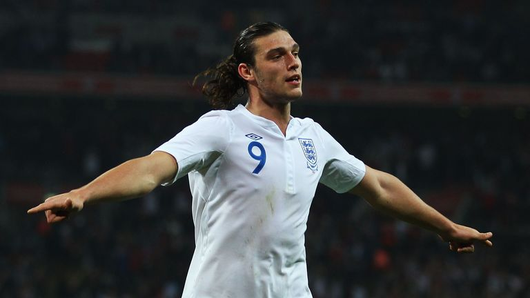Andy Carroll has scored twice in nine appearances for England.