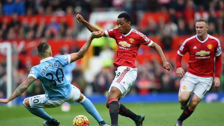 Anthony Martial caused problems for Man City