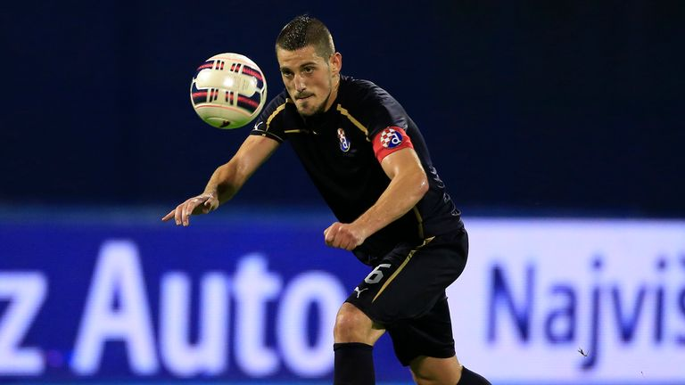 Arijan Ademi of FC Dinamo Zagreb in action