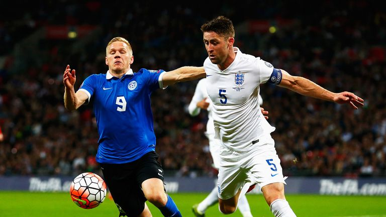 Ats Purje and Gary Cahill tangle