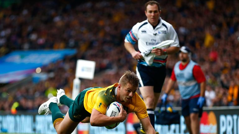 Drew Mitchell gave Australia the lead at the beginning of the second half