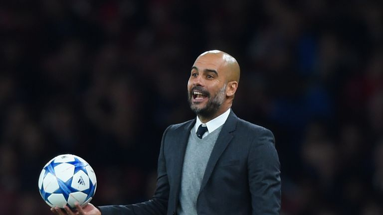 Guardiola has been in charge of Bayern Munich since replacing Jupp Heynckes in 2013