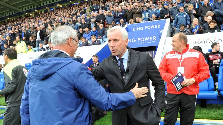 Claudio Ranieri and Alan Pardew shook hands before Leicester played Crystal Palace on Saturday, but there were no such niceties after the game