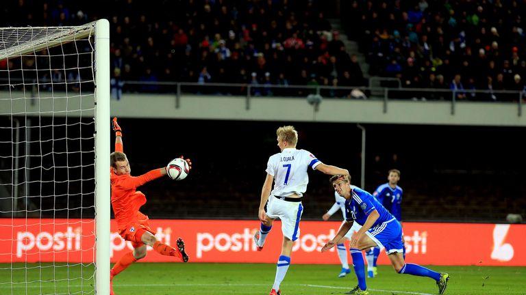 Craig Cathcart heads home against Finland