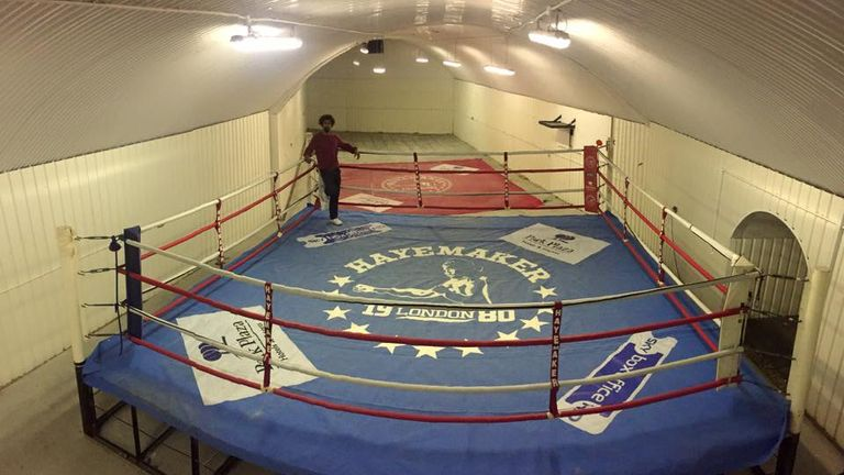 David Haye stands in his ring ahead of its sale (copyright: David Haye/Facebook)