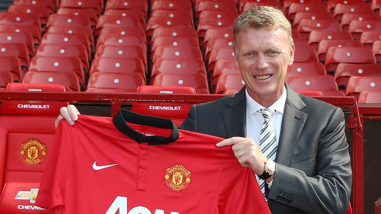 David Moyes unveiled as Manager of Manchester United in July 2013